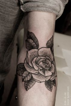 rose tattoo on shoulder black and white - Google Search