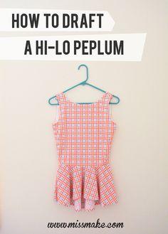 How to Draft a Hi-Lo Peplum by MissMake, via Flickr