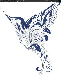 hummingbird drawings | Royalty Free Vector of Hummingbird