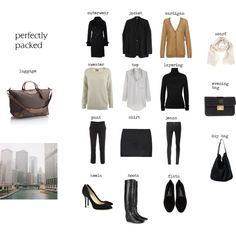 """Packing for The City"" by coffeestainedcashmere on Polyvore"