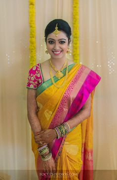 Beautiful South Indian Bride #SouthindianBride #Southindianwedding