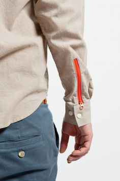 zipper on shirt cuff instead of buttons –by Ontour, Gardeners United S/S 2013.