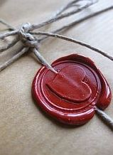 ~love letters sealed with wax and a heart. wax seal kit found on gifts.com I #pintowinGifts & @Gifts.com I use Deluxe Desktop Wax Seal Kit from gifts.com ~*