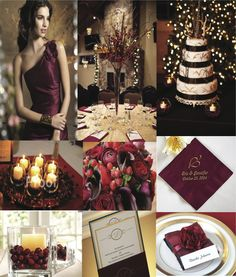 Cran Gold + Ivory (developed for client's November wedding) by One Fine Day Events  www.onefinedaychicago.com