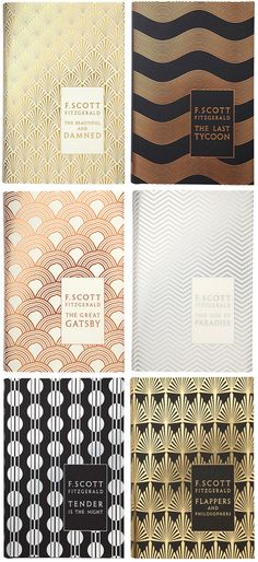 Mmmmmm. F. Scott Fitzgerald book jackets designed by Coralie Bickford-Smith. Even the blank book cover is beautiful.
