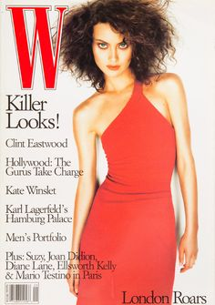 Shalom Harlow on the cover of W Magazine September 1996