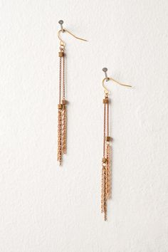 Brass cube and tassel earrings from jamiecox1984 on Etsy $25  #jewelry #handmade