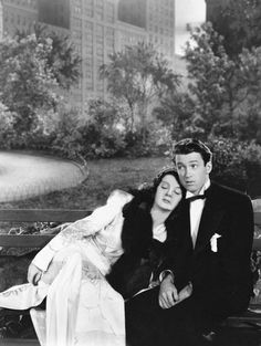 James Stewart and Rosalind Russell in No Time for Comedy (William Keighley, 1940).