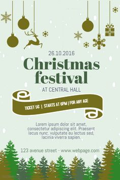 65 Best Christmas Poster Templates Images Poster Templates