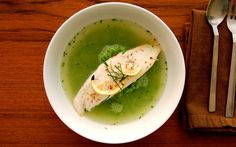 Pea Broth and Pea Puree - Summer in a bowl