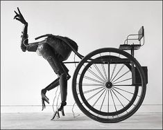 "This is ""Pony"", a motion-sensitive kinetic sculpture by Tim Lewis. Unsettling and beautiful"