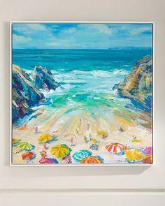 Rfa Fine Art Praia Pequina Giclee on Canvas Wall Art Diy Canvas Art, Canvas Wall Art, Beach Art, Art World, New Art, Art Decor, Decor Ideas, Watercolor Paintings, Watercolors