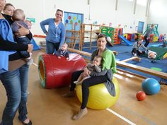 Gentle bouncing can assist in the development of balance & in stimulating the vestibular system