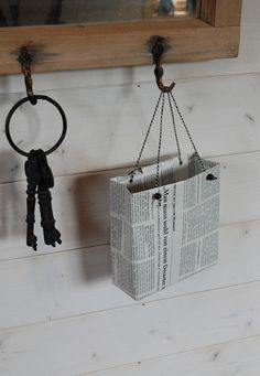 Tutorial: make a gift bag of newspapers