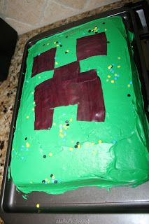 Just the 6 of Us: Minecraft Birthday Party for the 8 year old boy