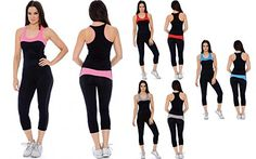 Enimay Womens Active Sport Workout Yoga Stretch 2 Piece Tank  Pant Set Outfit -- Visit the image link more details. (This is an affiliate link) #ActiveTopBottomSets