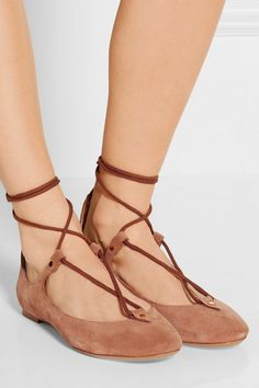 Heel measures approximately 10mm/ 0.5 inches Light-brown suede Ties at ankle Designer color: Camel Made in Italy