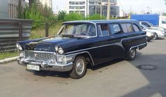 "the old and very rare Soviet GAZ-13 ""Chaika"" (or ""Seagull"") luxury car which was used (very rarely!) as an ambulance"
