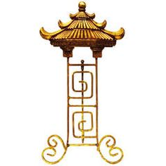 Itallian Gilt Standing Pagoda Easel, ca.1950