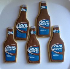 Bud Light Cookies - perfect for dads bday this year (birthday treats for dad)