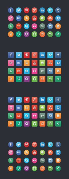 Free Modern Social Media Icons
