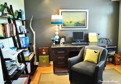 Office makeover via www.creativelylivingblog.com