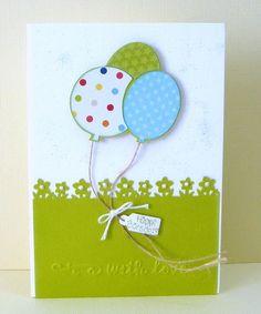 Sonjas's Schnipselstudio - Karte mit Ballons