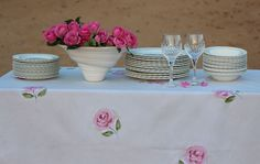Rose Tablecloth for sale
