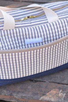Noodlehead Cargo Duffle with modifications from Baste & Gather