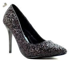 Black glitter Pointy toe Pump Stiletto heels Women's shoes size 10 - Delicious pumps for women (*Amazon Partner-Link)