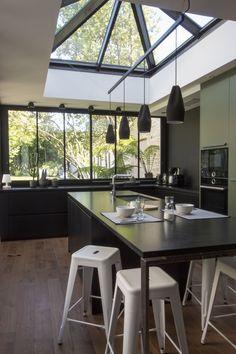 Kitchen Dinning Room, Kitchen Decor, Kitchen Design, Kitchen Interior, Home Interior Design, Interior Architecture, Skylight Design, Planer, Home Kitchens
