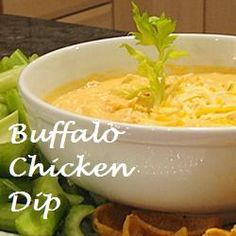 Buffalo Chicken Dip  Hopefully this is like my sister's dip, that stuff is DELICIOUS