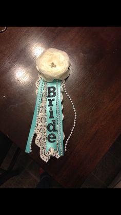 Corsage for breakfast at tiffanys bridal shower #bridalshower…