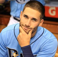Kevin Kiermaier of the Tampa Rays is one of the HOTTEST baseball players around! Read about Kevin Kiermaier. Hot Baseball Players, Baseball Guys, Rays Baseball, Beautiful Eyes, Gorgeous Men, Hottest Male Celebrities, Ideal Man, Tampa Bay Rays, Raining Men