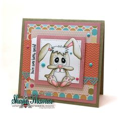 Digital Delights Chompers digital stamp Easter card, design by Paperesse.