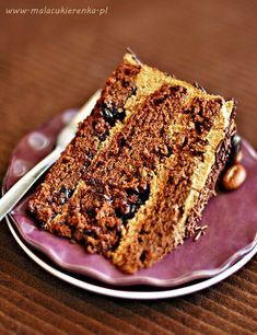 chocolate cake with coffee Chocolate Cake With Coffee, Polish Recipes, Cakes And More, Cake Cookies, Sweet Tooth, Good Food, Cooking Recipes, Sweets, Bread