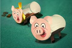 1000 images about on for Plastic bottle piggy bank craft