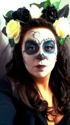 #Halloween #santamuerte #makeup #skeleton