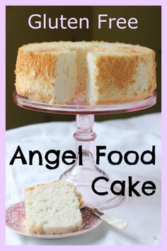 Gluten Free Angel Food Cake, a ClassicGluten Free Angel Food Cake recipe. The angels would sing if they could taste a bite of this pillowy soft, slightly sweet, airy, gluten free angel food cake - it's light like clouds. And perfect for the up Gluten Free Angel Food Cake, Gluten Free Sweets, Gluten Free Cakes, Gluten Free Baking, Gluten Free Sponge Cake, Strawberry Recipes Gluten Free, Gluten Free Almond Cake, Gluten Free Pound Cake, Yummy Recipes