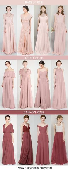 Wedding color inspiration with mismatched pink bridesmaid dresses on budget from tulleandchantilly Wedding Bridesmaid Dresses, Brides And Bridesmaids, Long Shorts, Color Inspiration, Wedding Colors, Wedding Photos, Tulle, Budget, Party Ideas