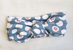 Red White And Polka Dot Organic Knit Headwrap – Lavender and Linen