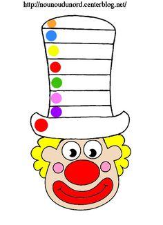 coloriages, comptine, gommettes à imprimer mardi gras, carnaval, clown, masque, cliquez sur mon lien pour tous les découvrir, http://nounoudunord.centerblog.net/4219-liste-de-mes-coloriages-clowns