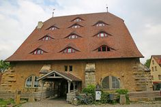 Old Horse Mill turned into a youth hostel Rothenburg Ob Der Tauber, Hostel, Youth, Germany, Cabin, Architecture, House Styles, Building, Travel