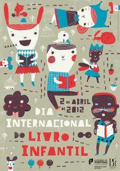Cartaz para o Dia internacional do livro infantil  Via: https://www.facebook.com/profile.php?id=100001630733823