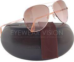 Michael Kors M2058S Lola Aviator Sunglasses Rose Gold
