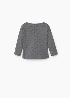 T-shirt algodão bordado | MANGO KIDS