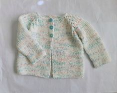 Hand knit cardigan, baby girl 6 months, pretty garter stitch sweater - white with pink & green, knitted clothes for baby girls, infant knits Baby Boy Cardigan, Baby Girl Sweaters, Knit Cardigan, Handmade Baby Clothes, Garter Stitch, Baby Month By Month, White Sweaters, 6 Months, Pink And Green