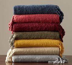 Solid Faux Mohair Throw | Pottery Barn / $59 / 50x70 / made of acrylic / dry clean only