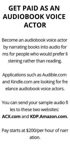 GET PAID AS AN AUDIOBOOK VOICE ACTOR - Wisdom Lives Here