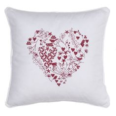 Shop for Love Is In The Air' Red/White Cotton-blended Throw Pillow. Free Shipping on orders over $45 at Overstock.com - Your Online Home Decor Outlet Store! Get 5% in rewards with Club O! - 19766286